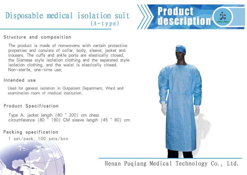 Disposable use of isolation clothing