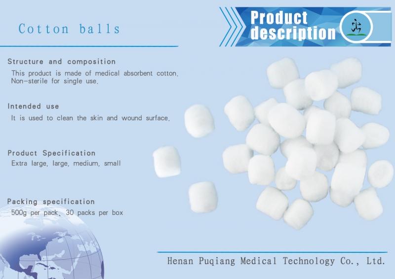 Medical cotton ball