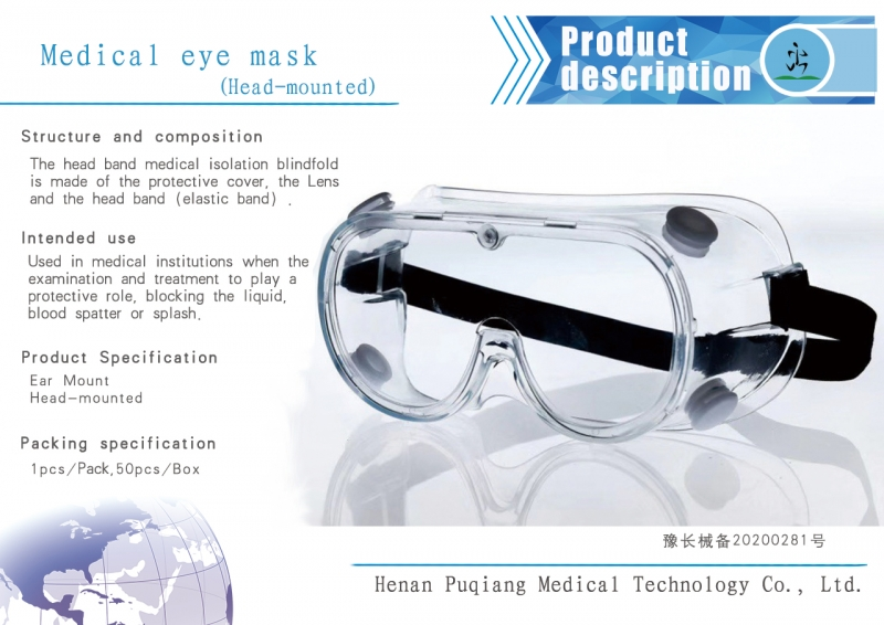 Medical isolation glasses